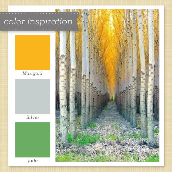 Sarah Hearts Gold Gray And Green Color Palette