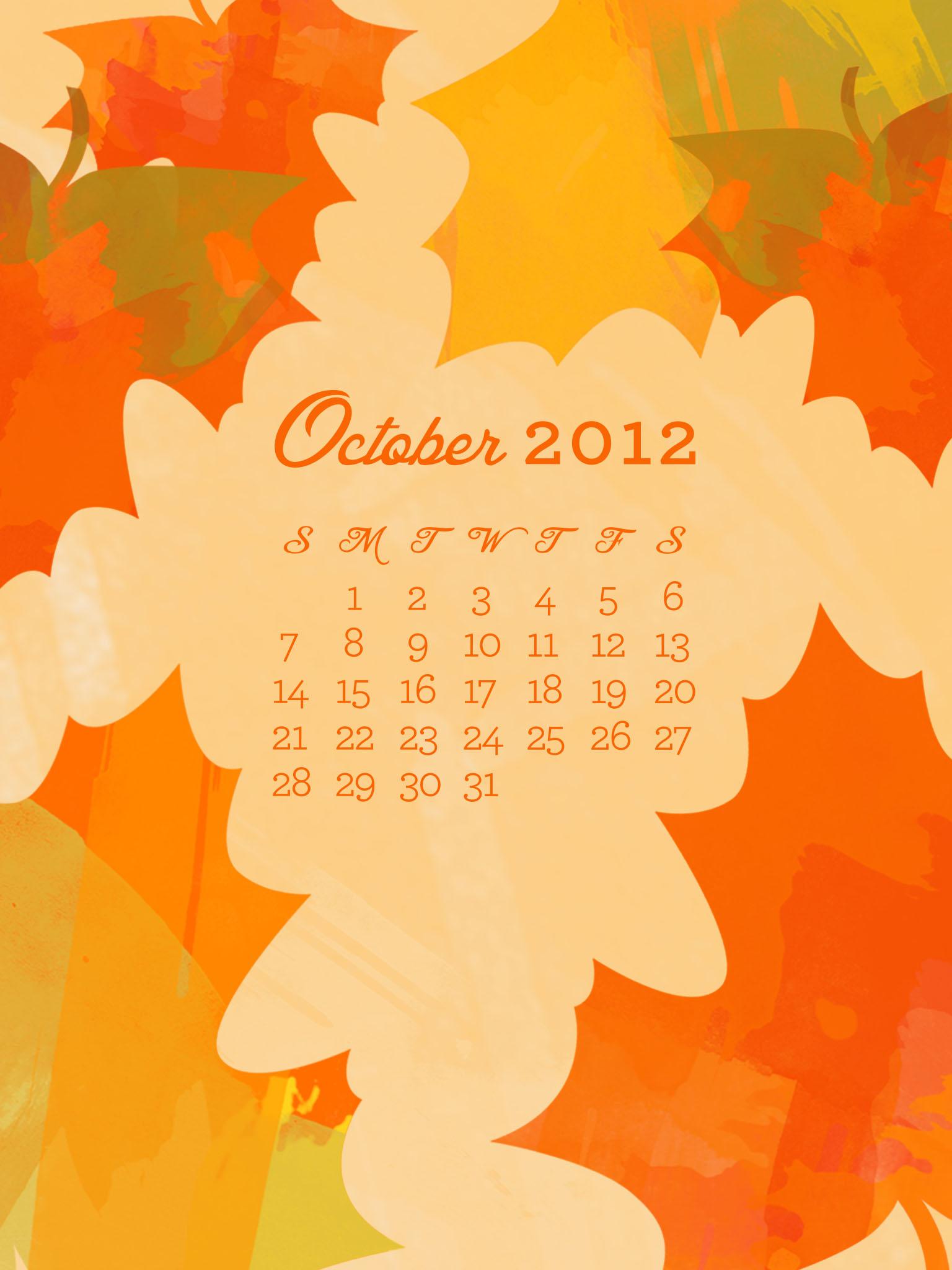 October Calendar Wallpaper Iphone : Sarah hearts october desktop iphone ipad
