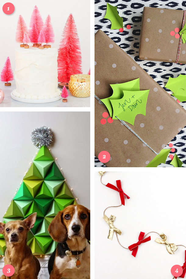 Loving these simple DIY Christmas decor projects! Click though for links to each tutorial.